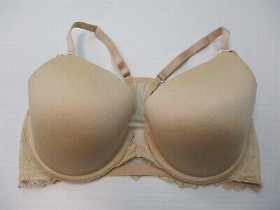 HEIDI KLUM INTIMATES 34D Bra Lace Racerback Nude Front Close T-Shirt Underwire