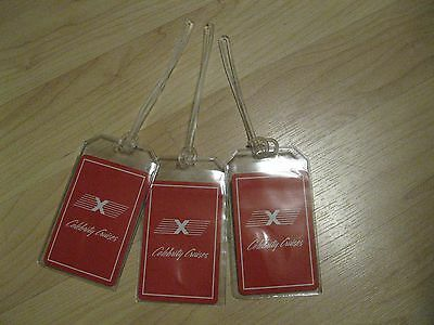 Celebrity Cruises Luggage Tags   Vintage Playing Card Ship Red Name Tag Set  3