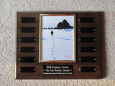 Employee Of The Month Perpetual Award Plaque 10.5x13 Trophy Free Engraving