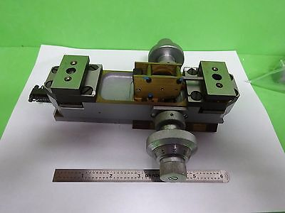 Microscope Part Reichert Austria Zetopan Brass Stage Micrometer As Is Binz1-08