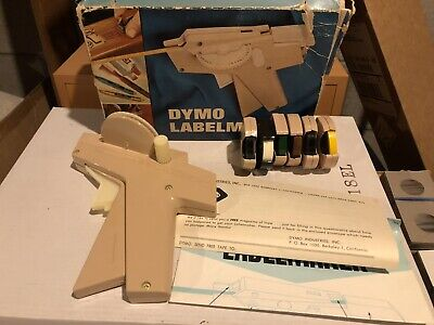 Vintage Dymo Label Maker With Label Tape And Box 1960s