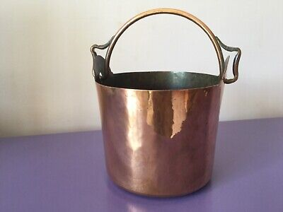 Vintage Arts & Crafts Copper Planter, Bucket. Plant Pot.Jardiniere.Quality Heavy