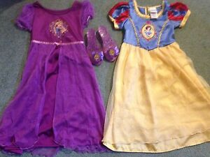 Original Disney Rapunzel and snow white dresses