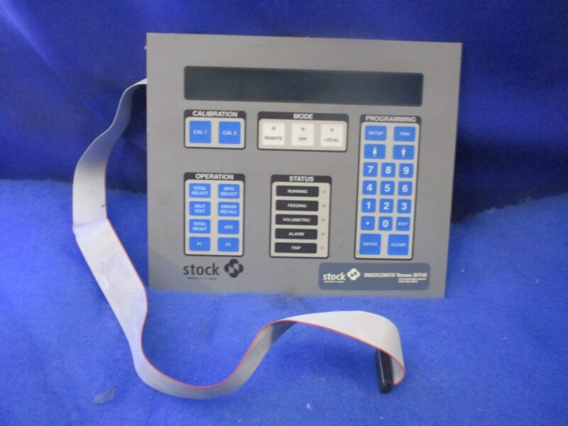 STOCK EQUIPMENT D28753-4 OPERATOR INTERFACE CONTROL DISPLAY PANEL HIM 1 YEAR WAR