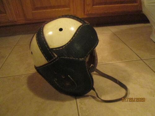 1940s MACGREGOR GOLDSMITH ALL AMERICA 54 LEATHER FOOTBALL HELMET NICE