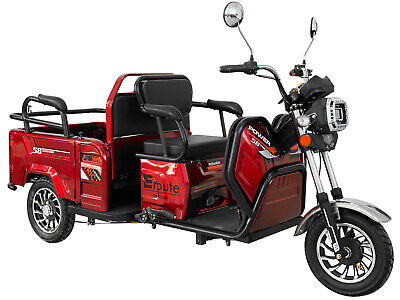 Electric Mobility Scooter E-Trike 3 Wheeled EROUTE 800W, brown