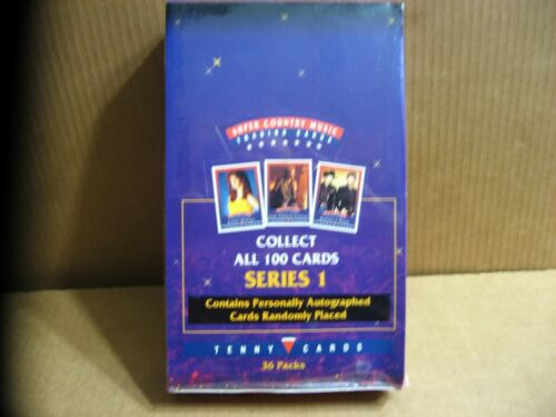 Country Music Trading Cards Factory Sealed Box 36 Packs 1993 Tenny Autographs