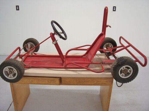 Vintage Hancock Lancer Go Kart Racing Kart Frame Wheels Project Parts