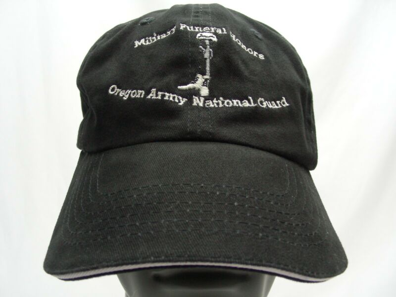 OREGON NATIONAL GUARD - MILITARY FUNERAL HONORS - ADJUSTABLE BALL CAP HAT!