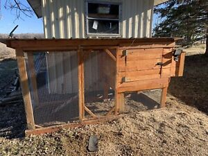 Chicken Coop and 4 chickens