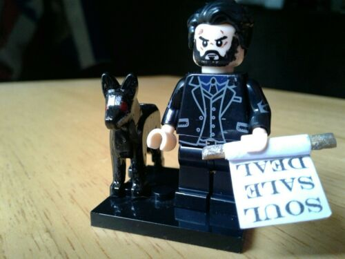 Mini CROWLEY SUPERNATURAL Building Brick Mini-figure -YOUR VERY OWN KING OF HELL