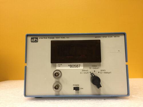 Clarke Hess 273A, 20 Ohm, C > 5000 pF Capacitance, Digital Display, ESR Meter