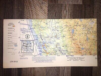 JN-29 Vintage 1963 Aviation Chart VG Alaska NW USA Aeronautical Map 4 Jet Pilots