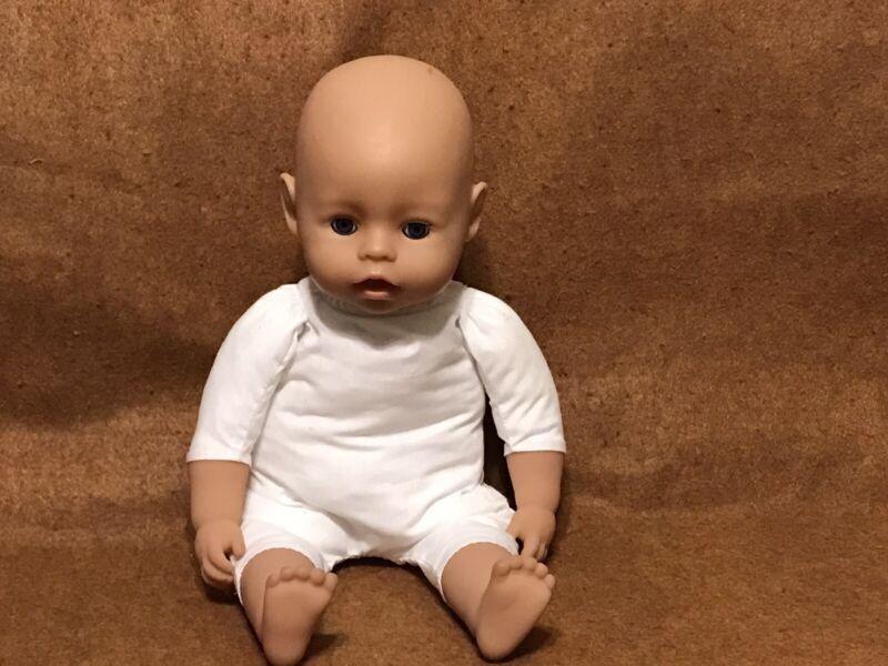 """zapf creation baby doll16"""" Sleep Eyes Soft White Cloth Body"""