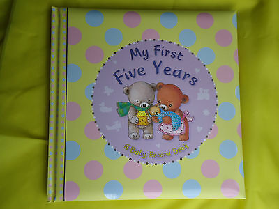 BABY'S RECORD BOOK - My First Five Years - FOR BABY GIRL or BOY  - HARDBACK GIFT