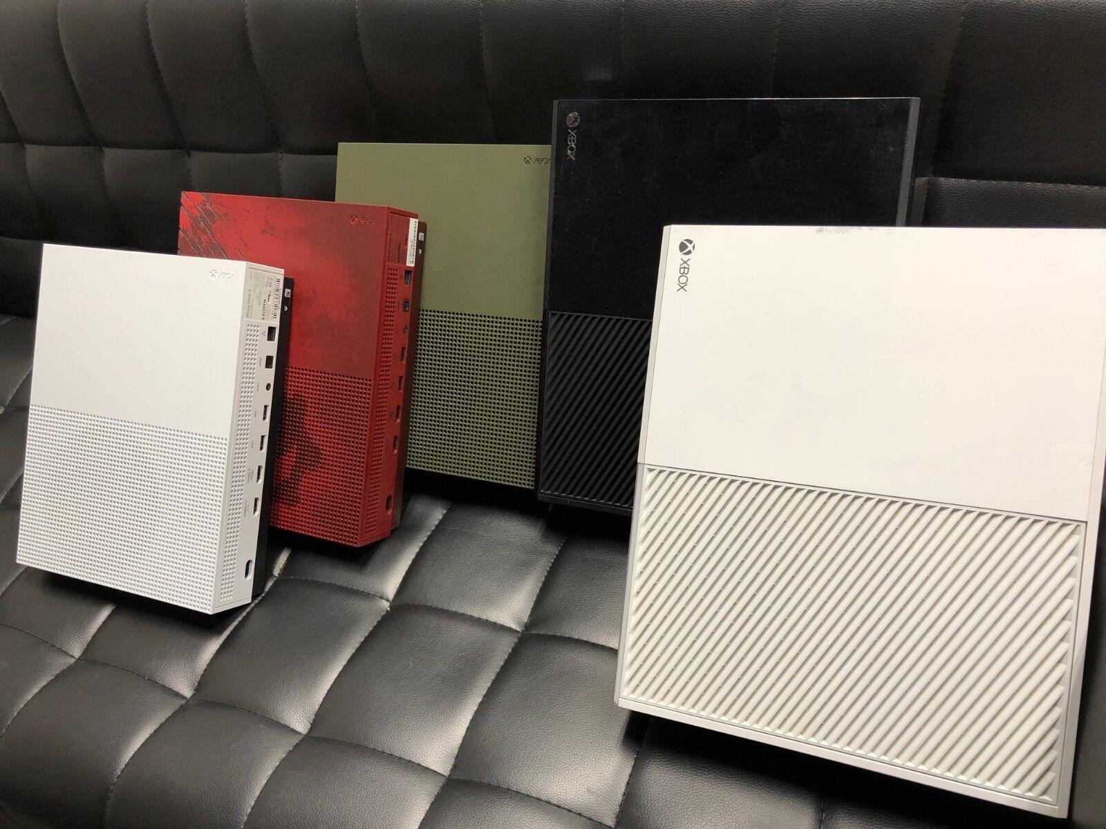 Microsoft Xbox One or One S Black  White 1TB 500GB Console Controller SE Edition