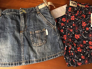 Size 5 Oshkosh girl bundle skinny floral jeans bnwt and jean skirt Woodside Adelaide Hills Preview