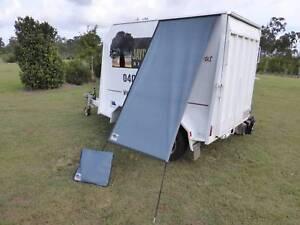 PREMIUM Caravan Fridge / Window Shade REEF BLUE Childers Bundaberg Surrounds Preview