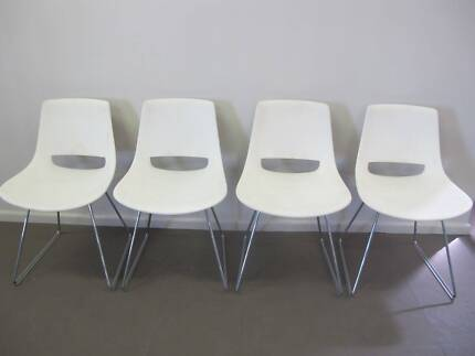 AS NEW 4 x DESIGNER ARPER PALM DINING OFFICE CHAIRS MADEIN ITALY Tempe Marrickville Area Preview