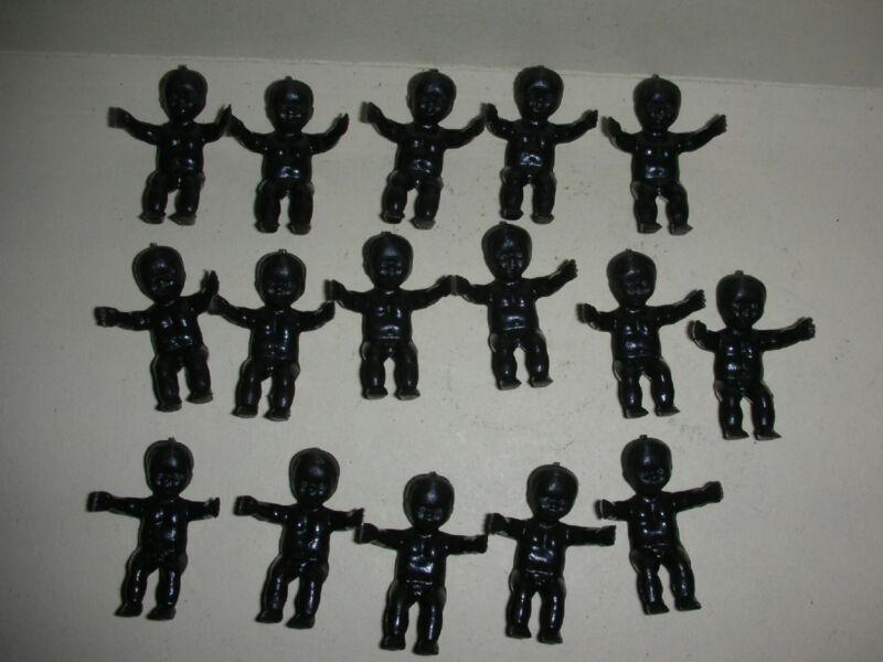 16 Black Mardi Gras/Baby Shower King Cake Babies - New!!!!