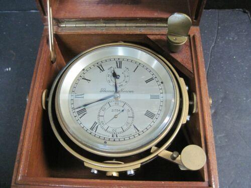 VINTAGE THOMAS MERCER  SHIPS CHRONOMETER IN ORIGINAL BOX AND CASE. (1920)