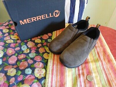 Merrill Kids Shoes:: Suede moccasin, tan size 3.5, NEW in box, never -