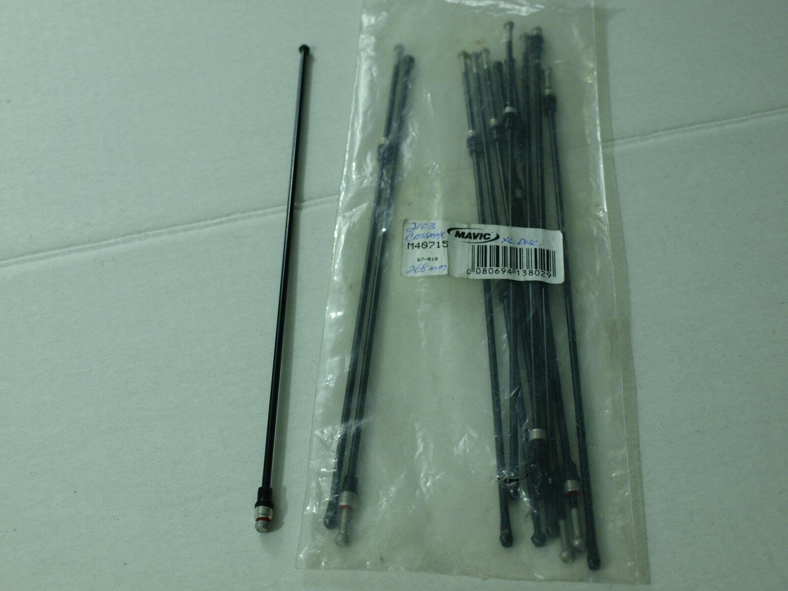 M40715  268mm 2003 Spoke Blk 1 New Mavic Crossmax XL Disc