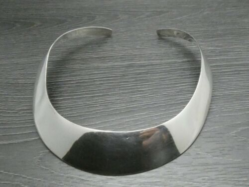 Vintage Sterling Silver Wide Heavier Collar Choker Necklace 14 inches (Taxco Mex