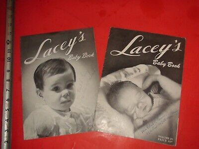 JA962 Vintage LOT of 2 Baby Clothing Knitting Pattern Books