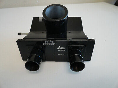 Leitz Diavert Inverted Microscope Trinocular Head