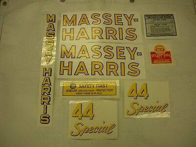 Massey Harris 44 Special Tractor Decal Set - New - Free Shipping