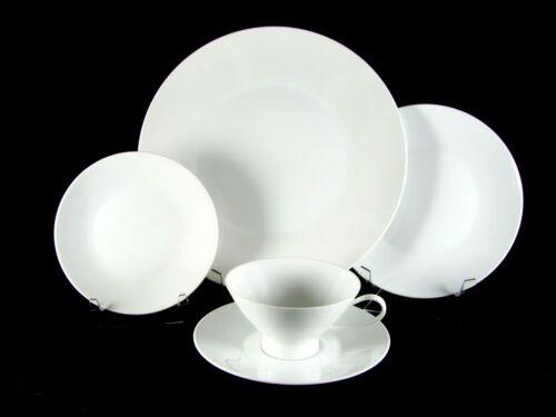 Rosenthal Classic Modern White Dinnerware, 20 pc, Service for 4, vtg