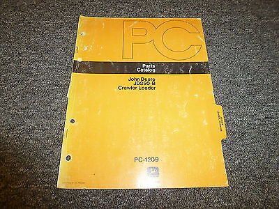 John Deere 350 B Crawler Loader Tractor Parts Catalog Manual Pc1209