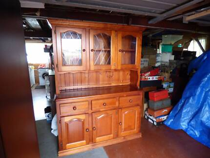 Timber Hutch Display Cabinet with glass doors South Toowoomba Toowoomba City Preview