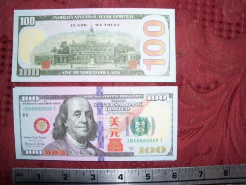 50 Chinese heaven hell  money notes per lot. $100 bill Joss paper