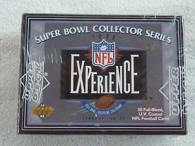 (1993 Upper Deck NFL Experience Super Bowl Collector Series 50 Card Factory Set)