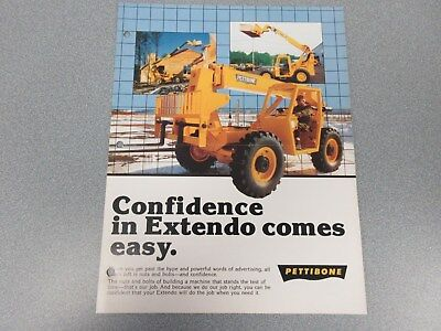 Rare Pettibone B66 B68 C8000 Extendo Forklift Sales Brochure