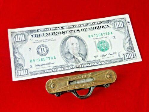 Vintage, Antique, Old, STANLEY Pocket/Line Level Cast Iron? and Brass