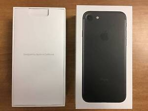 iphone 7 (Matte Black) 128gb Box + Accessories Cannington Canning Area Preview