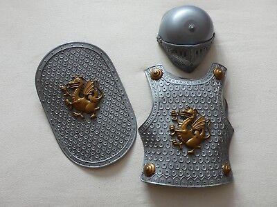 *** FASTNACHT - KARNEVAL - KINDER KOSTÜM - RITTER - HELM - SCHILD - - Brustpanzer Kostüm