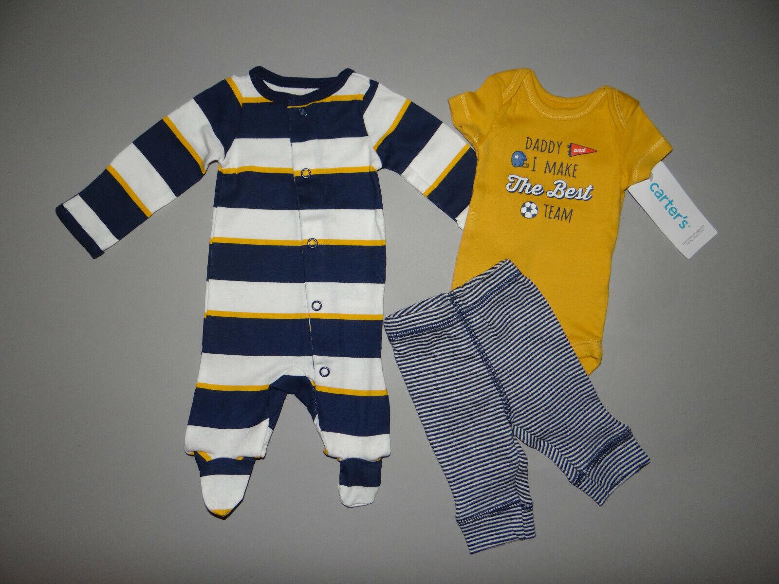 NWT, Baby boy clothes, Newborn, Carter's Sleep&Play, bodysuit, pants