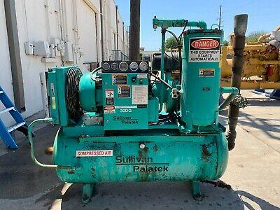 Sullivan Palatek 30 Hp Air Compressor 30dgsd-te 13465 Hrs