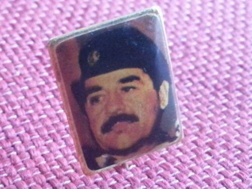 POLITICAL SADDAM HUSSEIN PIN BADGE