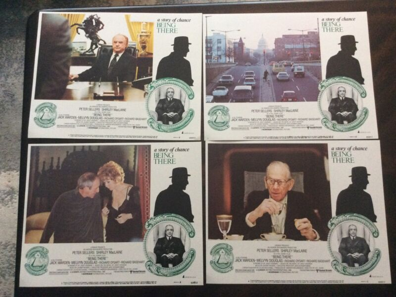 Being There 1980 Original Vintage 11x14 Lobby Card Set ( Lot Of 8) Peter Sellers