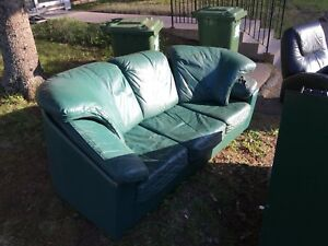 Free green leather couch