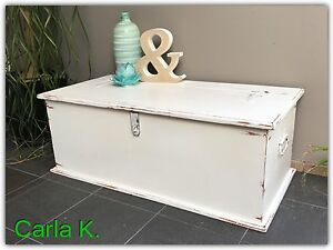 SOLID TIMBER CHEST BLANKET BOX TOY BOX Frenchs Forest Warringah Area Preview