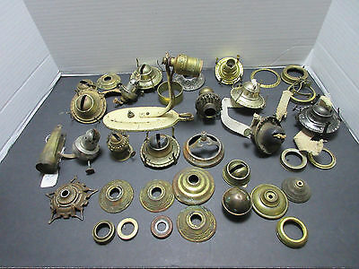 LOT Antique Oil Lamp Wick BurnerS PARTS AND REPAIR VINTAGE EAGLE STAR - ELECTRIC