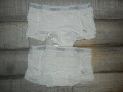 2er Pack Puma Womens Mini Short!! Pants, Slip, Unterwäsche, Weiß S *NEU* Top Mini Womens Slip