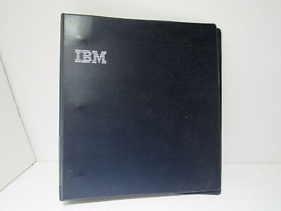 Vintage Ibm 3 Ring 2 Black Binder