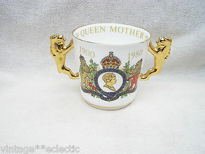 PARAGON COMMEMORATIVE LOVING CUP of QUEEN MOTHER MUM 80TH BIRTHDAY in 1980